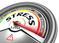 Stress Level Conceptual Meter Indicating Maximum